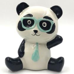 Mr. Panda with glasses bushing