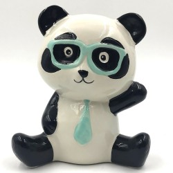 Szemüveges Mr. Panda kerámia persely