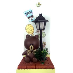 Kuma maci asztali dekor lámpa