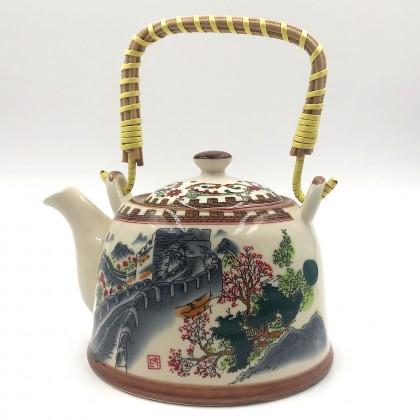Kínai nagy fal porcelán teáskanna szűrővel