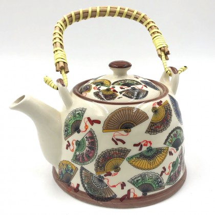 The great Wall of China porcelain teapot with filter