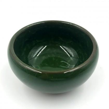 Oriental fans porcelain teapot with filter