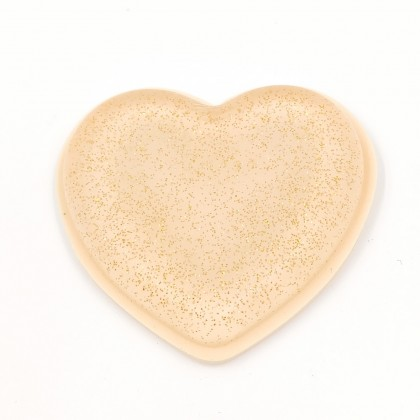 Silicone makeup sponge ( heart-shaped, glittered)