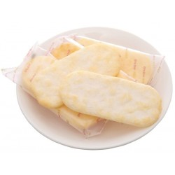 1 small pack Cheese-corn rice crackers