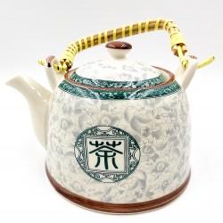 Keleti virágos porcelán teáskanna szűrővel