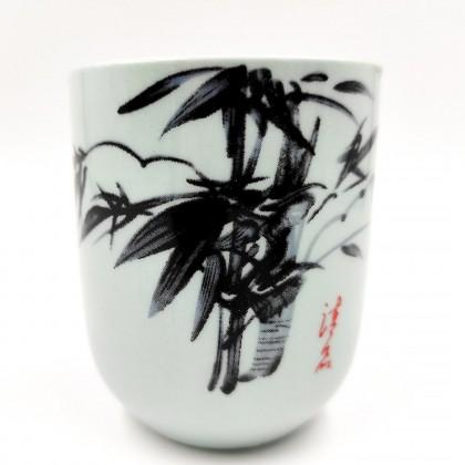 Flower porcelain teacup
