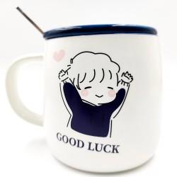 Good Luck kék bögre