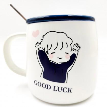 Good Luck blue mug