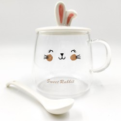 """Transparent """"Sweet Rabbit"""" mug"""