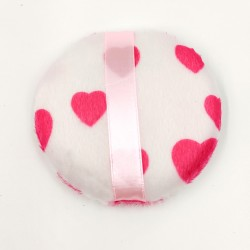 Rose Cosmetics Powder Puff (small sized with pink hearts)