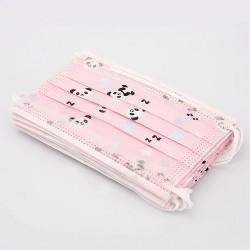 50 pcs Disposable 3 layers Girl Pink Panda Face Mask