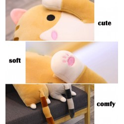 Long Cotton Cuddly Sleeping Pillow - Yellow Cat