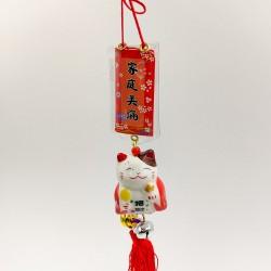 Maneki Neko szerencse függő - Piros
