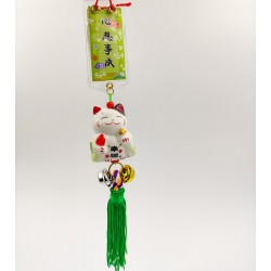 Maneki Neko lucky talisman - Green