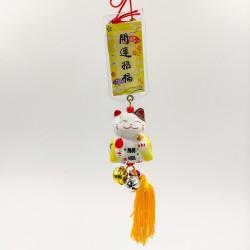 Maneki Neko szerencse függő - Sárga