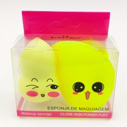 Cute Ruby Face make up sponge set (yellow)