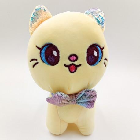 Kawaii sárga plüss macska