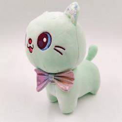 Kawaii zöld plüss macska