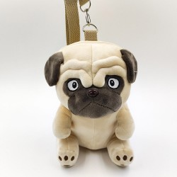 Cute pug plush backpack