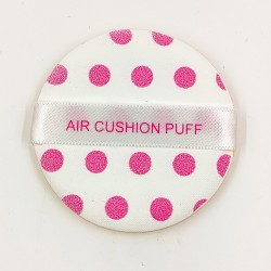 Rose Cosmetics Powder Puff (mini sized with pink dots)