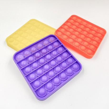 Push pop buborék fidget, anti-stressz játék - négyzet alakú