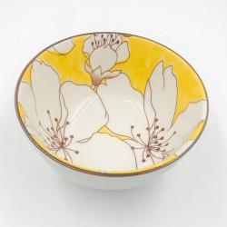 Sakura leves/rizses tál - sárga