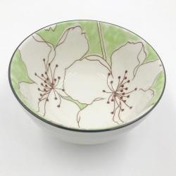 Sakura leves/rizses tál - zöld