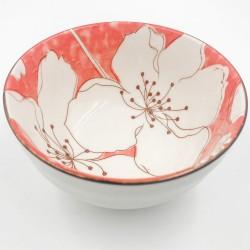 Sakura leves/rizses tál - piros