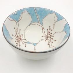 Sakura leves/rizses tál - kék