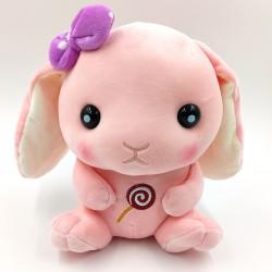 Cuki pihe-puha rózsaszín plüss nyuszi