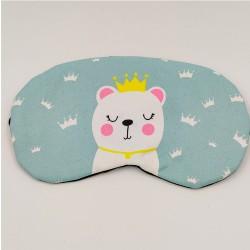 Eyemask White bear with crown