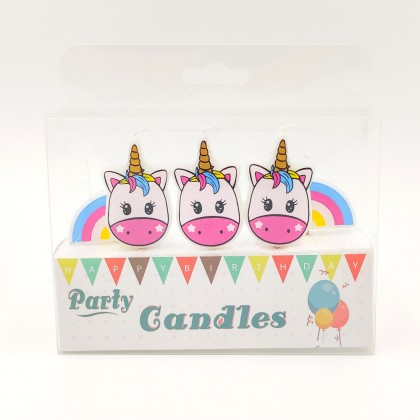 Party candles Unicorn