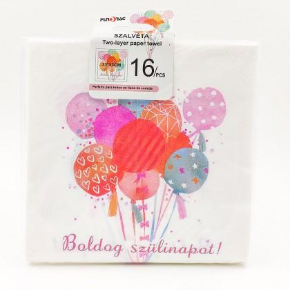 Happy birthday balloons Paper towel