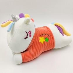 Kawaii red T-shirt unicorn plush pillow