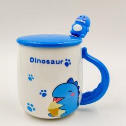 Kék dinós bögre