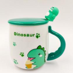 Zöld dinós bögre