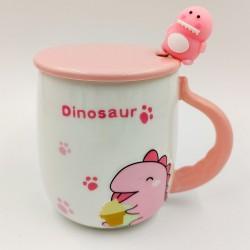 Rózsaszín dinós bögre