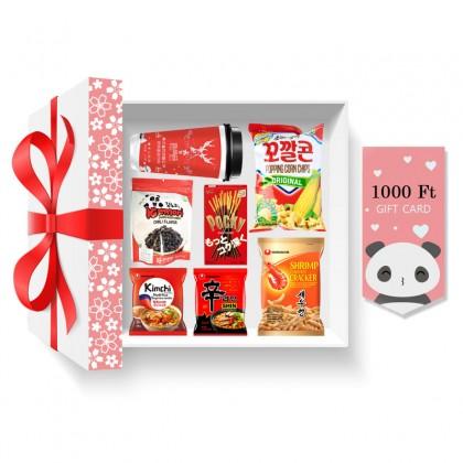 Piros ajándékcsomag