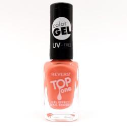 Revers gel effect nail enamel orange No.72