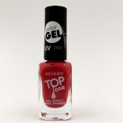 Revers gel effect nail enamel red No.35