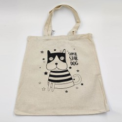 Super Star Dog Canvas Bag