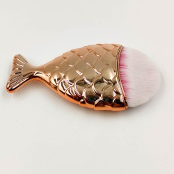 Rose Cosmetics Golden Fish- shaped Blush Brush
