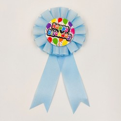 "Badge ""Happy Birthday"" blue"