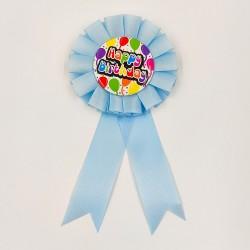 """Party kitűző szülinapi """"Happy Birthday"""" kék"""
