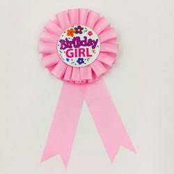 "Badge birthday party ""Birthday Girl"" 2"