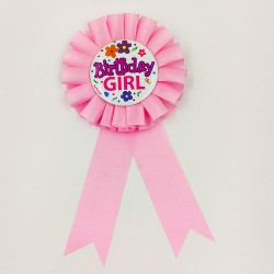 "Badge birthday party ""Birthday Girl"" 2"