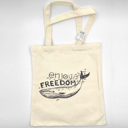 Enjoy Freedom Canvas Bag