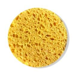 Rose Cosmetics Face Wash Sponge (yellow, round-shaped)