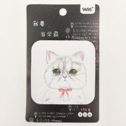 Piros masni cuki macska jegyzettömb