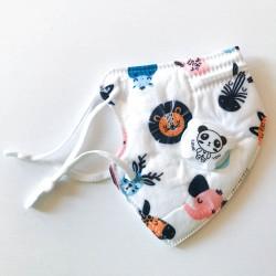 Állatos gyerek FFP2 KN95 szelepes, 5 rétegű szájmaszk, állítható gumipánttal